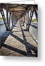 Tulsa Pedestrian Bridge Greeting Card