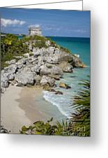 Tulum - Mayan Temple Greeting Card