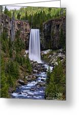 Tumalo Falls - Oregon Greeting Card