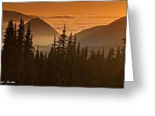 Tumtum Peak At Sunset Greeting Card