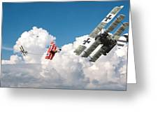 Tumult In The Clouds Greeting Card
