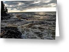 Tumultious Waters Greeting Card