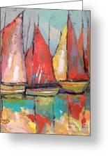 Tuna Boats Greeting Card by Kip Decker