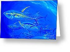 Tuna School Greeting Card