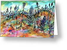 Quebec Taiga Landscape Greeting Card