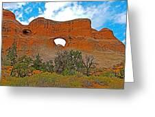Tunnel Arch On Devils Garden Trail In Arches National Park-utah In Arches National Park-utah Greeting Card