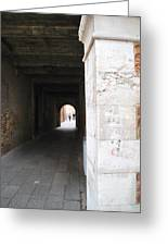 Tunnel In Venice Greeting Card