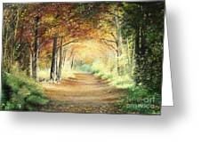 Tunnel In Wood Greeting Card