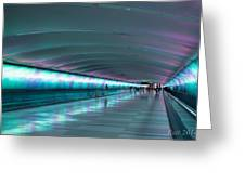 Tunnel Of Colour Greeting Card