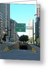 Tunnel To New York 2929 Greeting Card