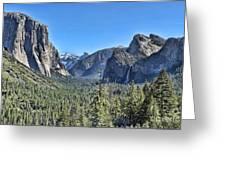 Tunnel View At Yosemite Greeting Card