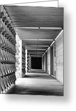 Tunnel Vision Palm Springs City Hall  Greeting Card