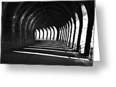 Tunnel With Shadows Greeting Card