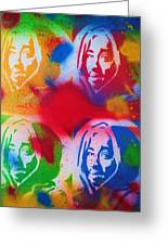 Tupac V Warhol Greeting Card