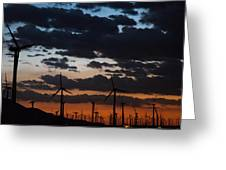 Turbine Sunset Greeting Card