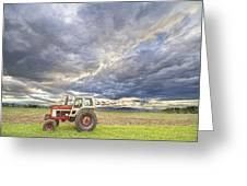 Turbo Tractor Country Evening Skies Greeting Card by James BO  Insogna