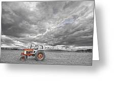Turbo Tractor Superman Country Evening Skies Greeting Card