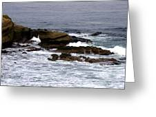 Waves Crashing Into La Jolla Shores Greeting Card