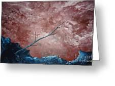 Turbulent Stick Greeting Card