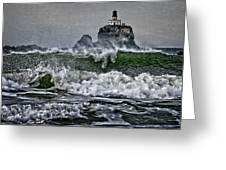 Turbulent Waters Greeting Card