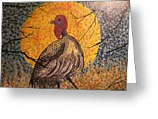 Turkey In The Moonlight Greeting Card