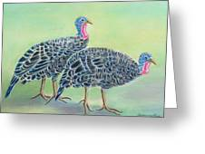 Turkey Trot Girls Greeting Card