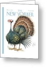 Turkey Wearing A False Pig Nose Greeting Card