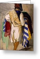 Turkish Carpet Seller, 1841 Greeting Card