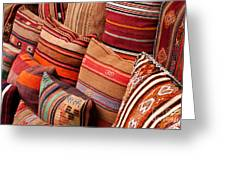 Turkish Cushions 03 Greeting Card by Rick Piper Photography