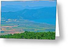 Turkish Farms Along The Aegean Sea Greeting Card