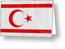 Turkish Republic Of Northern Cyprus Flag Greeting Card