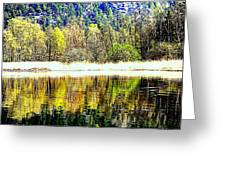 When Nature Is Turned Upside Down  Greeting Card