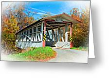 Turner's Covered Bridge Vignette Greeting Card