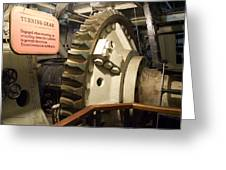 Turning Gear Engine Room Queen Mary 02 Greeting Card