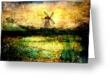 Turning Windmill Greeting Card