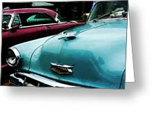 Turquoise Bel Air Greeting Card