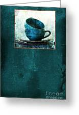 Turquoise Cups Greeting Card