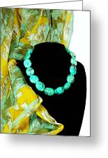 Turquoise Fashion Greeting Card