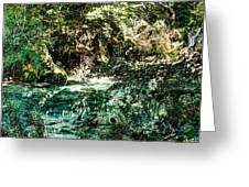Turquoise Forest Pond On A Summer Day No1 Greeting Card