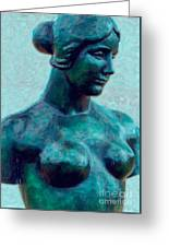 Turquoise Maiden - Digital Art Greeting Card