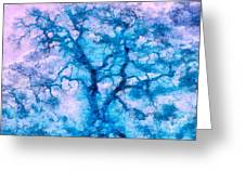 Turquoise Oak Tree Greeting Card by Priya Ghose