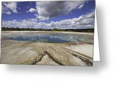 Turquoise Pool In Yellowstone National Park Greeting Card