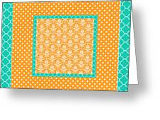 Turquoise Pumpkin Abstract Greeting Card