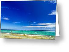 Turquoise Sea And Blue Sky Greeting Card