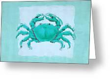Turquoise Seashells I Greeting Card
