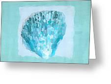 Turquoise Seashells Vii Greeting Card by Lourry Legarde