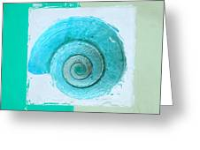 Turquoise Seashells X Greeting Card