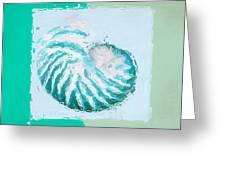 Turquoise Seashells Xii Greeting Card by Lourry Legarde