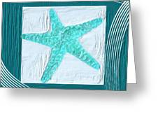 Turquoise Seashells Xvi Greeting Card