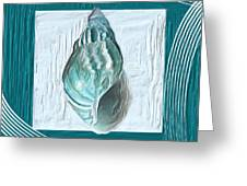 Turquoise Seashells Xx Greeting Card by Lourry Legarde